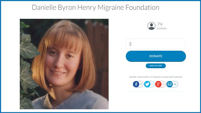 Danielle Byron Henry Migraine Foundation Love Utah Give Utah